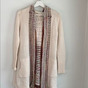 Anthropologie Wool Long Sweater